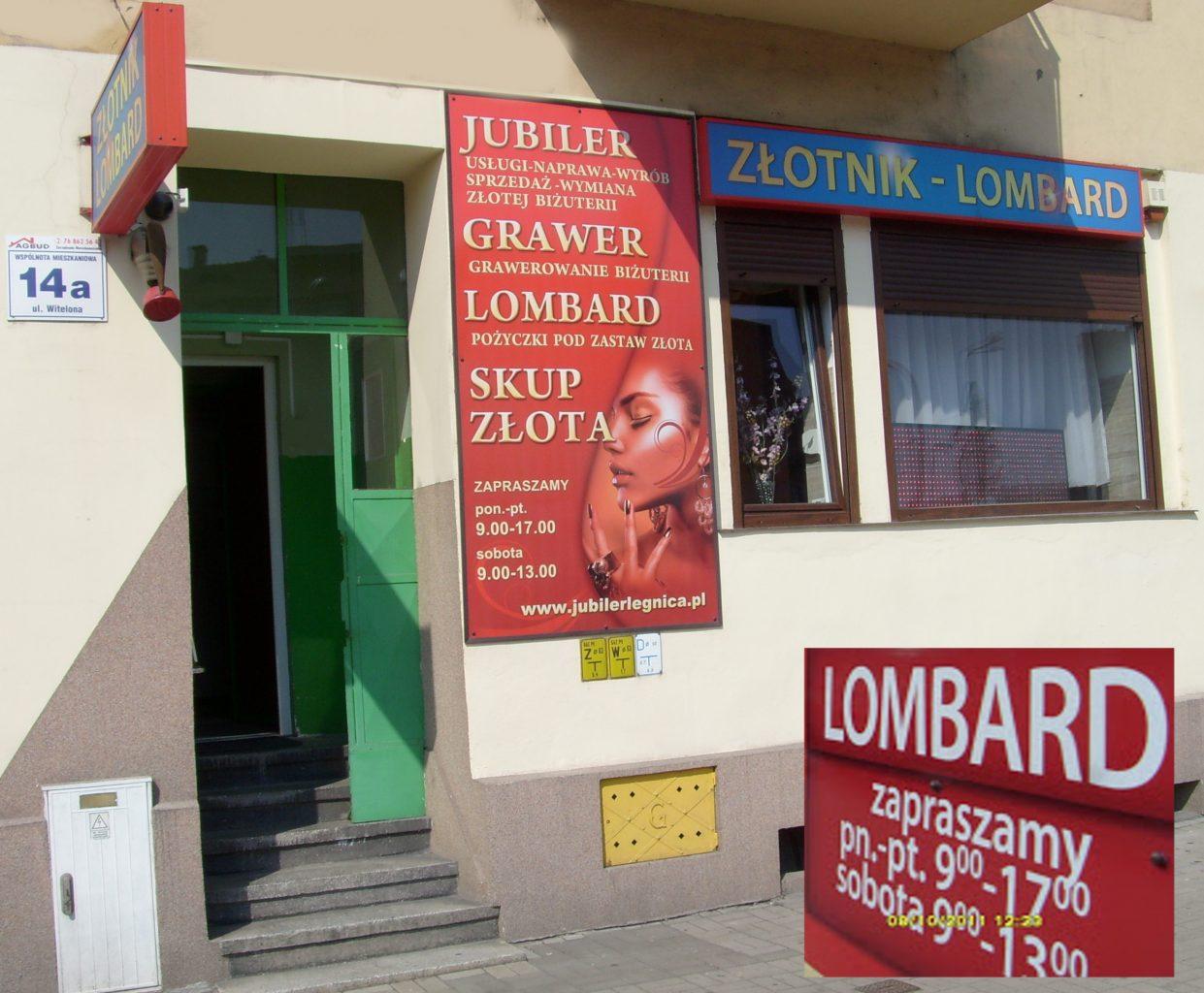 Lombard RAJ Legnica – foto